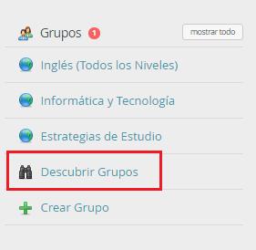 Descubrir Grupo
