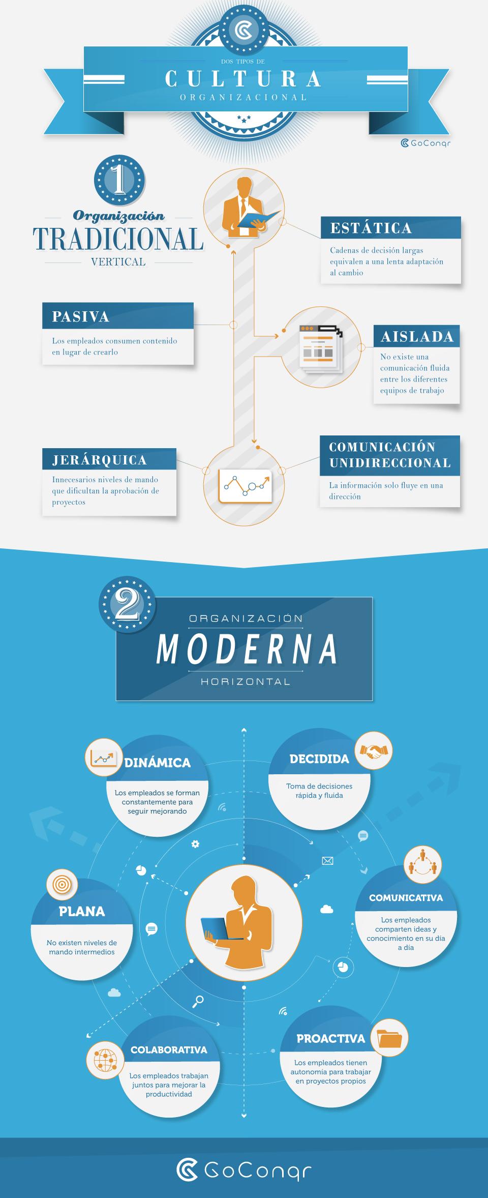 Infografía Organización Horizontal